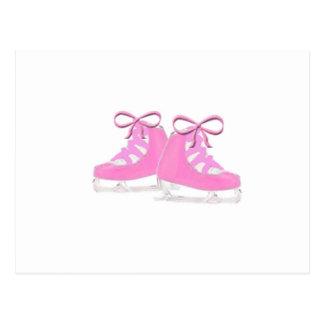 Pink Ice Skates Postcard