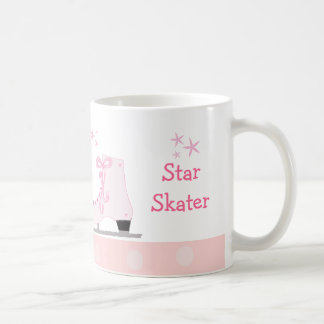 Pink Ice Skates - Star Skater Basic White Mug