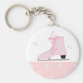 Pink Ice Skating Design Key Ring