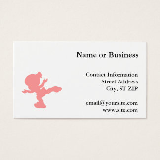 Pink Ice Skating Girl Business Card