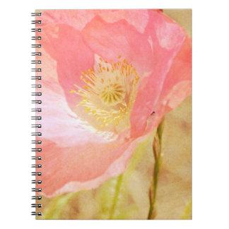 Pink Iceland Poppy Notebook
