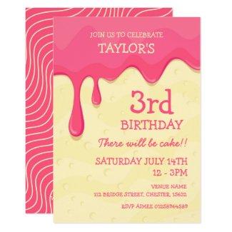 Pink Icing Cake Invitation