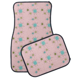 Pink Iconic Atomic Starbursts Car Mats