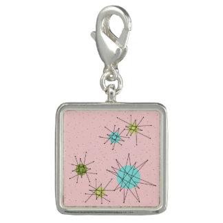 Pink Iconic Atomic Starbursts Charm