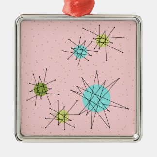 Pink Iconic Atomic Starbursts Christmas Ornament