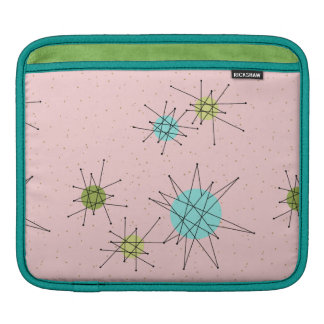 Pink Iconic Atomic Starbursts iPad Sleeve