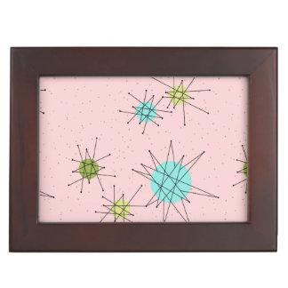 Pink Iconic Atomic Starbursts Keepsake Box