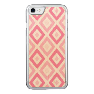 Pink Ikat Diamond Pattern Carved iPhone 8/7 Case