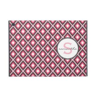 Pink Ikat Monogram iPad Mini Cover