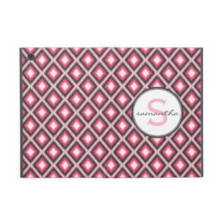 Pink Ikat Monogram iPad Mini Covers