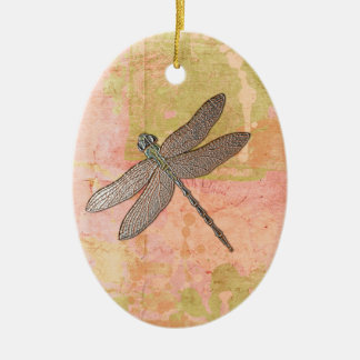 Pink Impressions Dragonfly Christmas Ornament