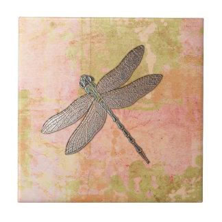 Pink Impressions Dragonfly Tile