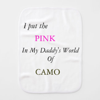 Pink in CAMO Burp Cloth