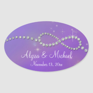 Pink Infinity Symbol Sign Infinite Love Twinkling Oval Sticker
