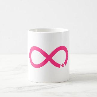 Pink Infinity Symbol with star Basic White Mug