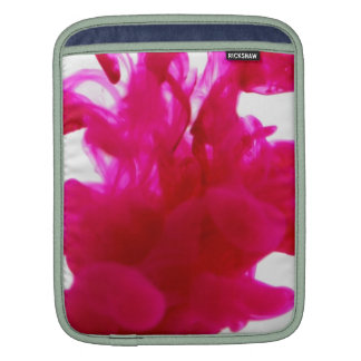 Pink Ink Drop Fine Art Photography Sleeves For iPads