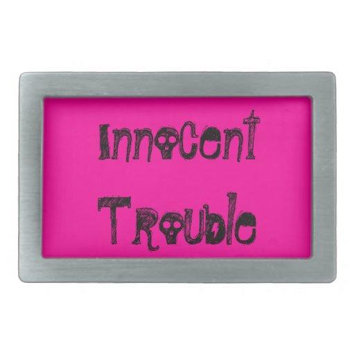 Pink Innocent Trouble belt buckle