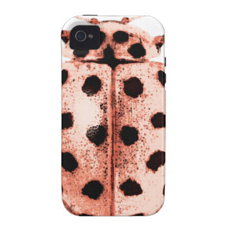 pink insect ladybird trash iPhone 4 case