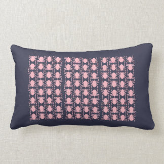 Pink insect throw pillow