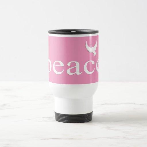 Pink Inspirational Peace Quote Coffee Mug
