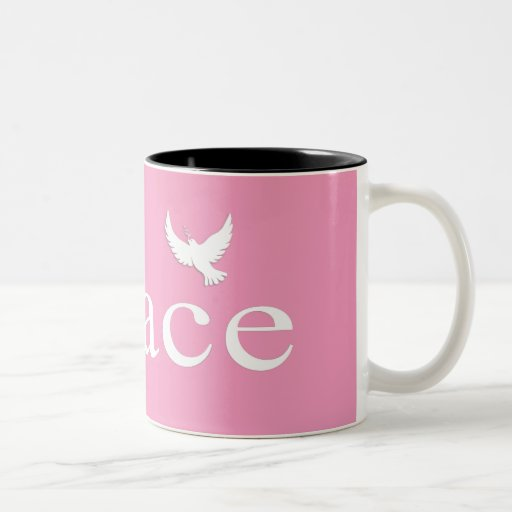 Pink Inspirational Peace Quote Mug