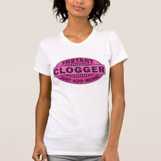 Pink Instant Clogger Clog Dancing Emblem T-Shirt