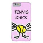Pink iPhone 6 case with tennis design Slim iPhone 6 Case