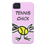 Pink iPhone case with tennis design