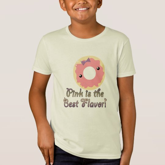 Pink is Best Flavour Pink Frosted Doughnut T-Shirt