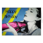 'Pink is for Girls' Birthday Card