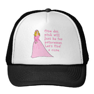 Pink is for Princesses Breast Cancer Products Mesh Hat