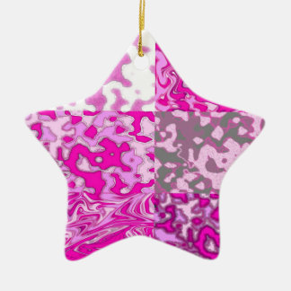 pink is not a color its an attitude ceramic star decoration