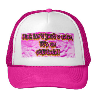 pink is not just a color its an attitude cap