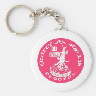 "PINK ""It Evil"" Basic Round Button Key Ring"