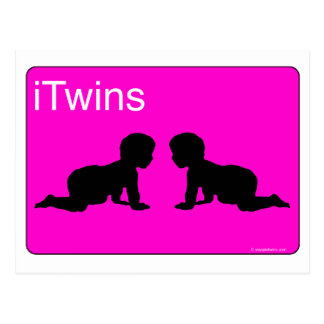 pink iTwins Postcard