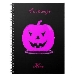 Pink Jack o'lantern Halloween Thunder_Cove Notebook