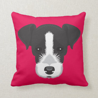 Pink Jack Russell Terrier Cushion