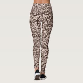 Pink Jaguar Animal Print Pattern Leggings