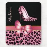 Pink Jaguar Stilettos Custom Mouse Pad