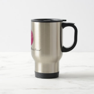 pink jane, Jane Addams ran a Hull of a House! Stainless Steel Travel Mug