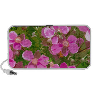 Pink japanese anemone flowers PC speakers