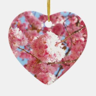 Pink Japanese Cherry Blossom Christmas Ornament