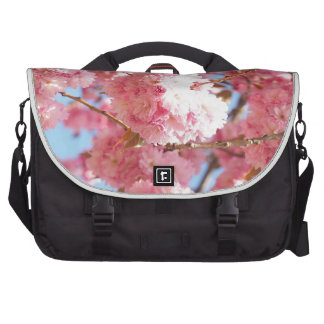 Pink Japanese Cherry Blossom Laptop Commuter Bag