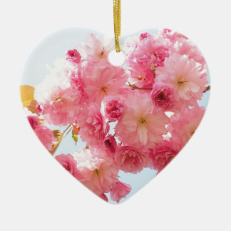 Pink Japanese Cherry Blossom Photograph Christmas Ornament