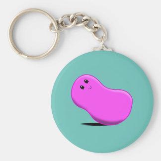 Pink Jellybean Keychain