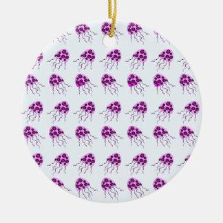 Pink jellyfish christmas ornament