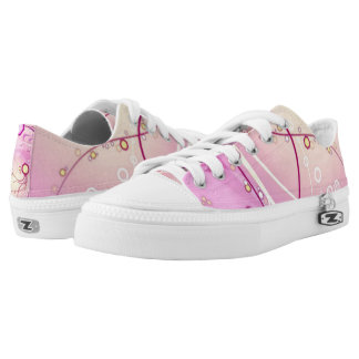 Pink Jellyfish Custom Zipz Low Top Kickers Printed Shoes