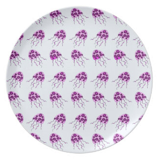 Pink jellyfish plate