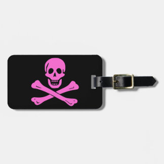 Pink Jolly Roger Luggage Tag