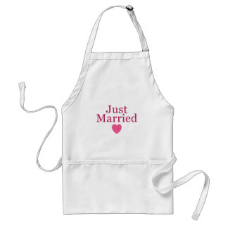 Pink Just Married Standard Apron
